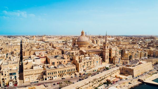 Aerial view of Valletta, foto. Visitmalta